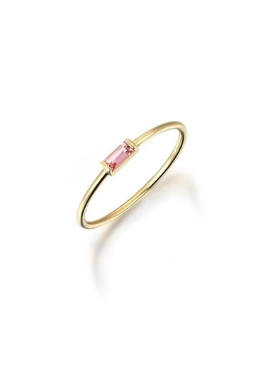 Piano Jewellery Vintage Pink Taşlı Dolce Tel Altın Yüzük 14 Ayar Altın